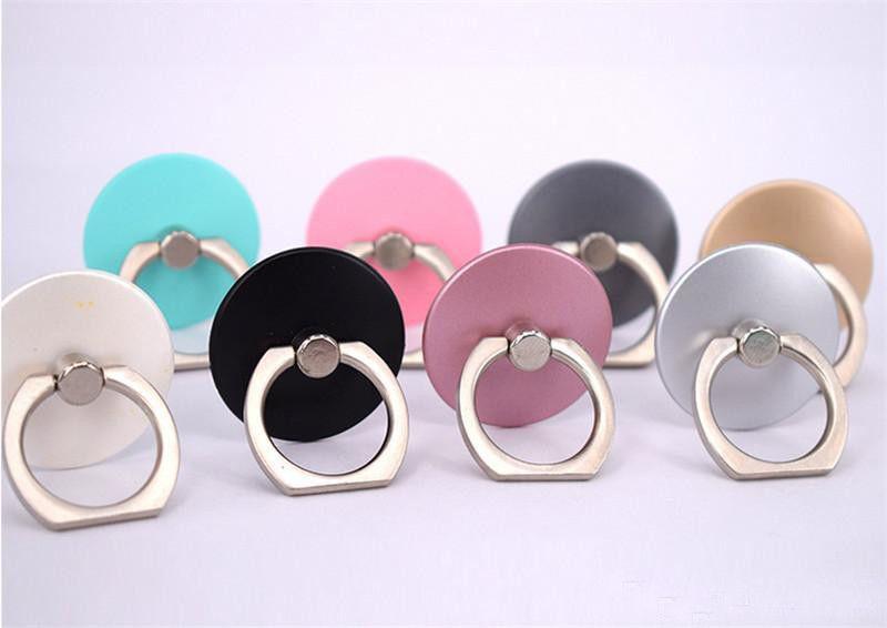 360 Rotasyon Yüzük Tutucu Cep Telefonu Halka Tokaları Kavrama Cep Telefonu Parmak Metal Yüzük Tutucu Cep Telefonu Standı Perakende Paketi Için