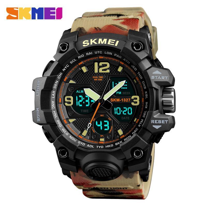 bf2750ac6 Compre Skmei Reloj Resistente Al Agua Deporte Hombres Reloj Digital Dual  Tiempo Superior Marca De Calidad Analógica De Alarma Relojes De Pulsera  Reloj ...