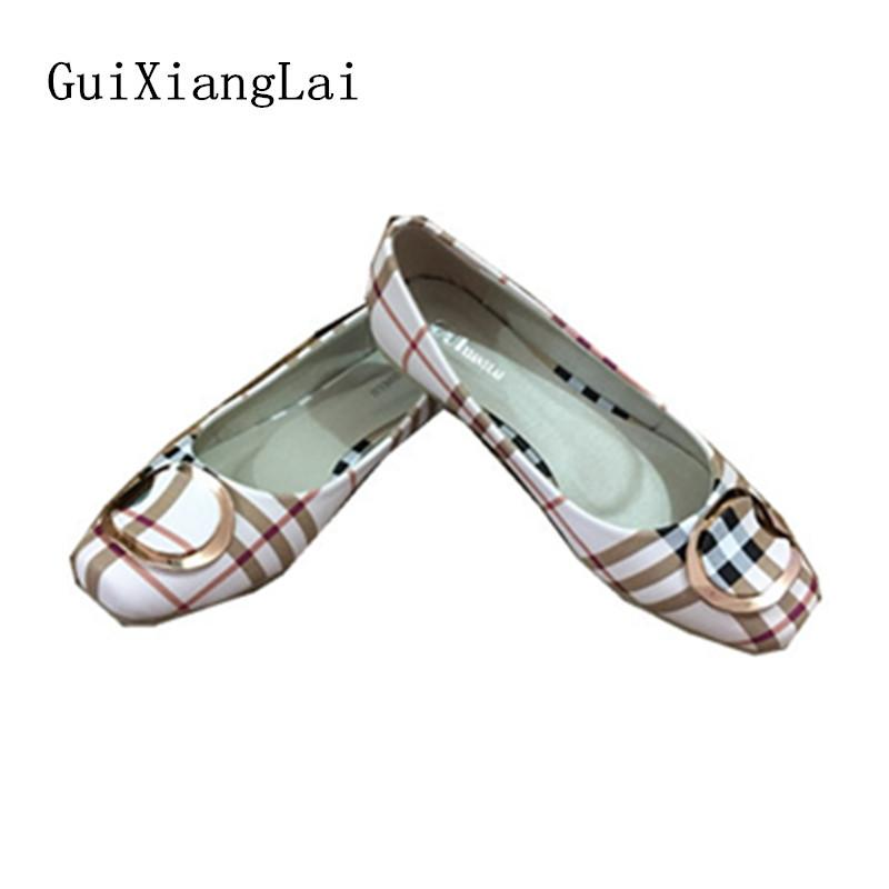 a370e5343f28 2019 Casual Guixianglai NEW 2018 Fashion Spring Women Flats Shoes Ladies  Bow Square Toe Slip On Flat Women S Shoes Female Plus Size 35 42 Mens Casual  Shoes ...