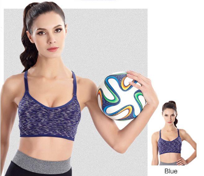 2018 New Sexy Women Fitness Bra Dyeing Sling sports Underwear Wire Free Yoga Vest Shockproof Ladies Bra