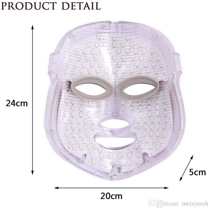 LED Light PDT Photon Thérapie Soins de la peau Masque Facial Masque Massage Spa Spa Remise de la ride 7 couleurs