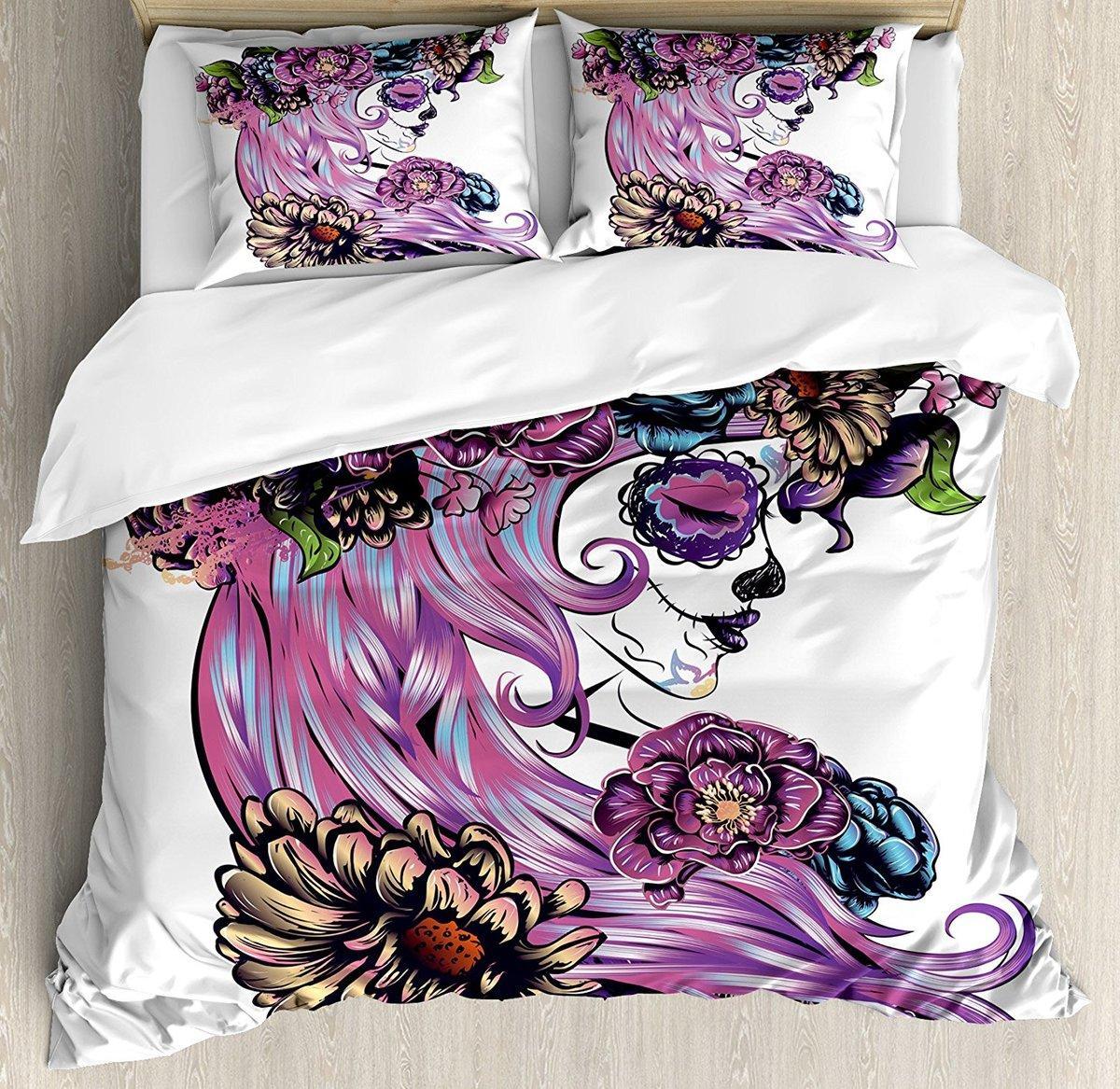 Großhandel Gothic Decor Bettbezug Set Tag Der Toten Illustration Mit ...