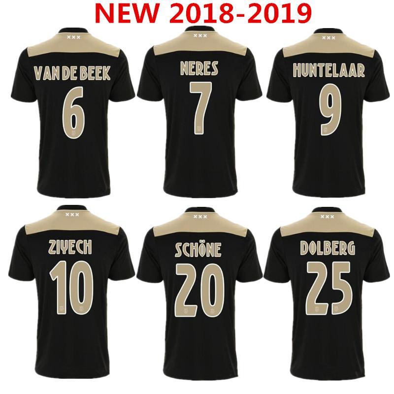 f3584c93079 2019 Best Quality New 18 19 Ajax FC Away Black Raw Gold Soccer Jersey 2018  2019 KLAASSEN MILIK NOURI Football Uniforms Shirts From Movement999, ...