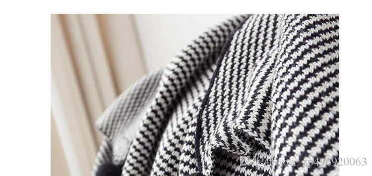 Acheter Petit Puits Maison Coton Rayures Noires Et Blanches