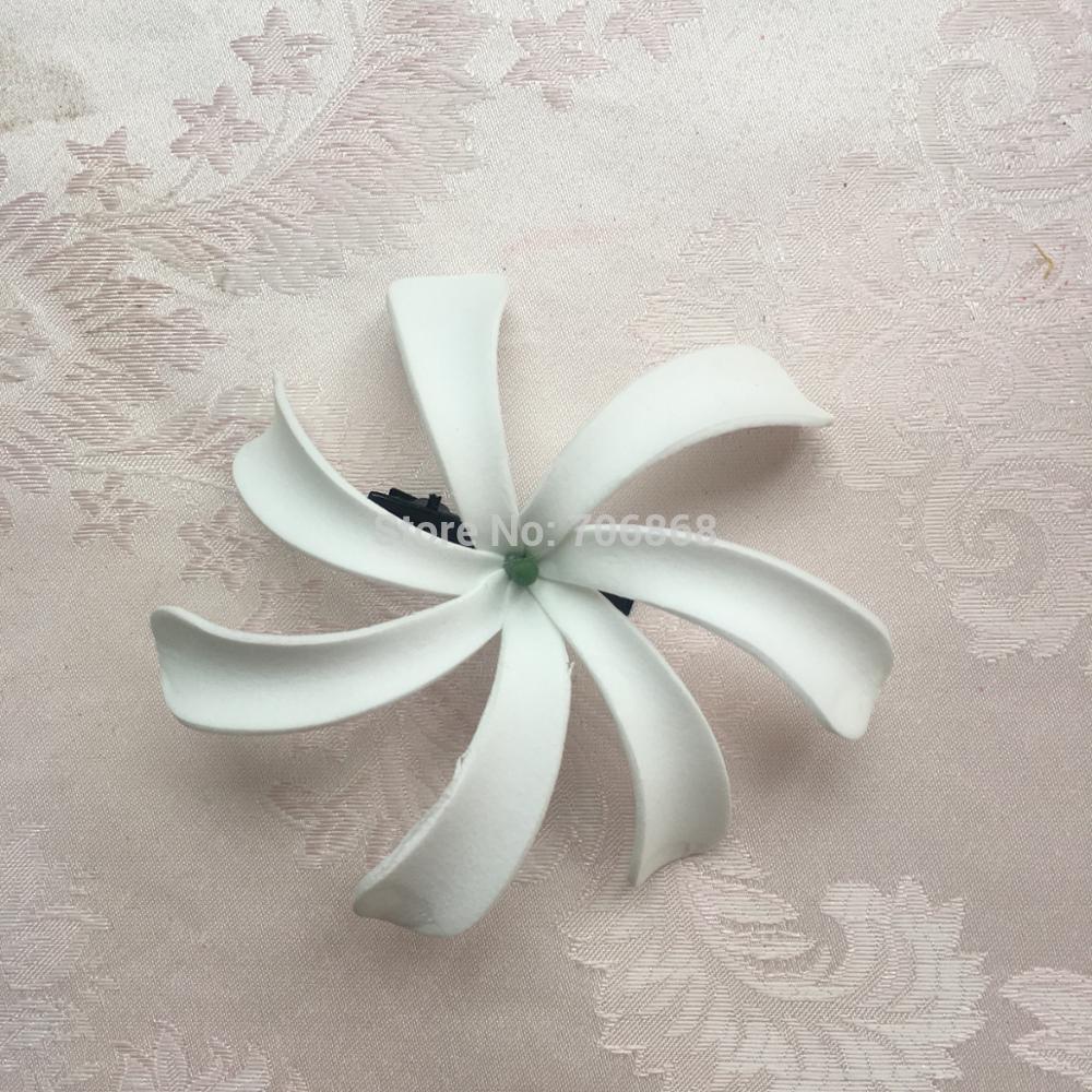 2018 Pack Artificial Foam Tiare Flowers Hawaiian Hair Flower Hair