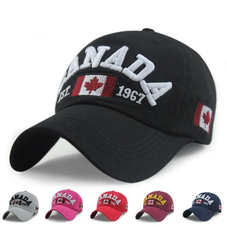 43f5d465 Wholesale Retail Classic Fashion Cotton Sports Baseball Cap Canada America  Flag Caps For Men Women Summer Gorras Baseball Caps For Men Mesh Hats From  Jutie, ...