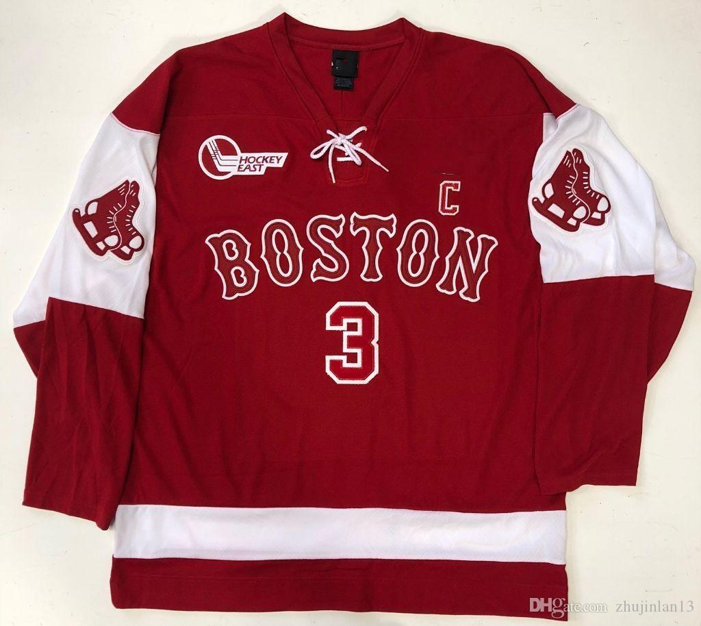 best sneakers 50f18 8e986 KEVIN SHATTENKIRK BOSTON UNIVERSITY Hockey Jersey Embroidery Stitched  Customize any number and name size Jerseys