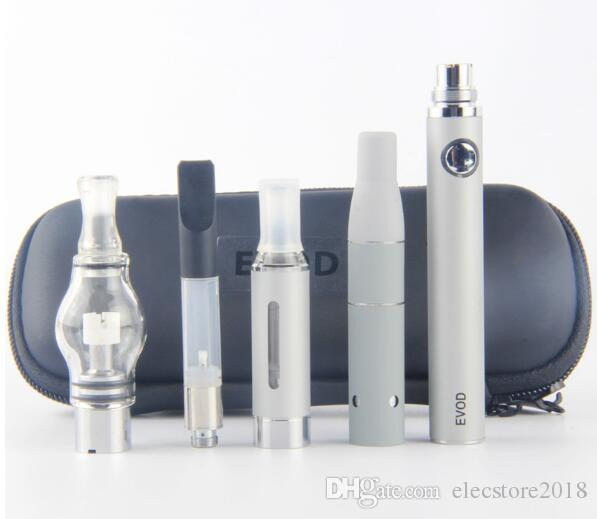 eVod Vaporizer 4 in 1 Starter Kits CE3 Vape Cartridges Kit Dry Herb Dab Pen Kit Wax Oil Vapes 510 Thread Battery Super Vape Pens