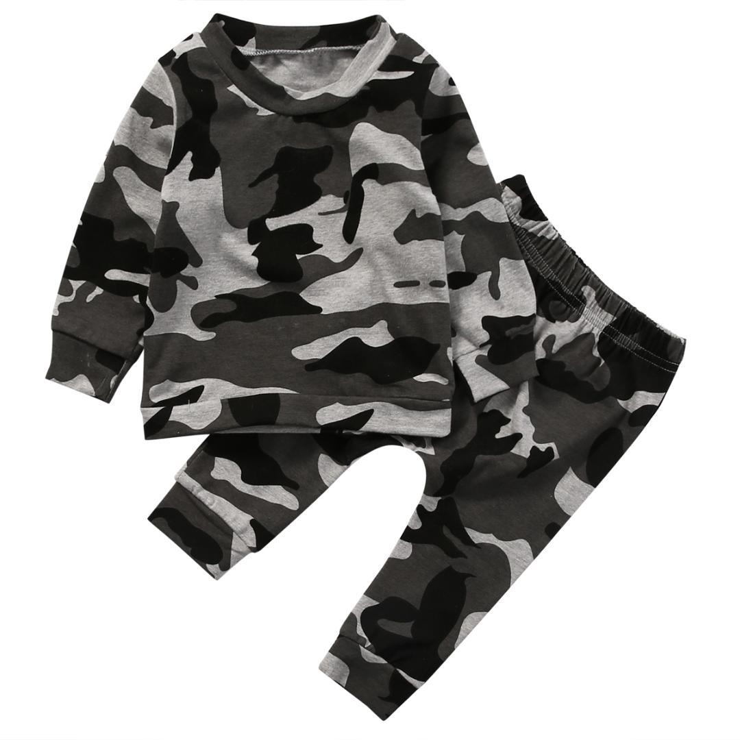 e8a9cf968 2019 Pudcoco Newborn Toddler Infant Baby Boy Girl Camo Clothes Cotton Short T  Shirt +Pants Outfits Set 0 24 Months Helen115 From Rainbowny, $37.25 |  DHgate.