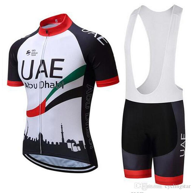 2019 New Team UAE Cycling Jersey Bike Bib Shorts Set MTB Ropa ... 18893e573