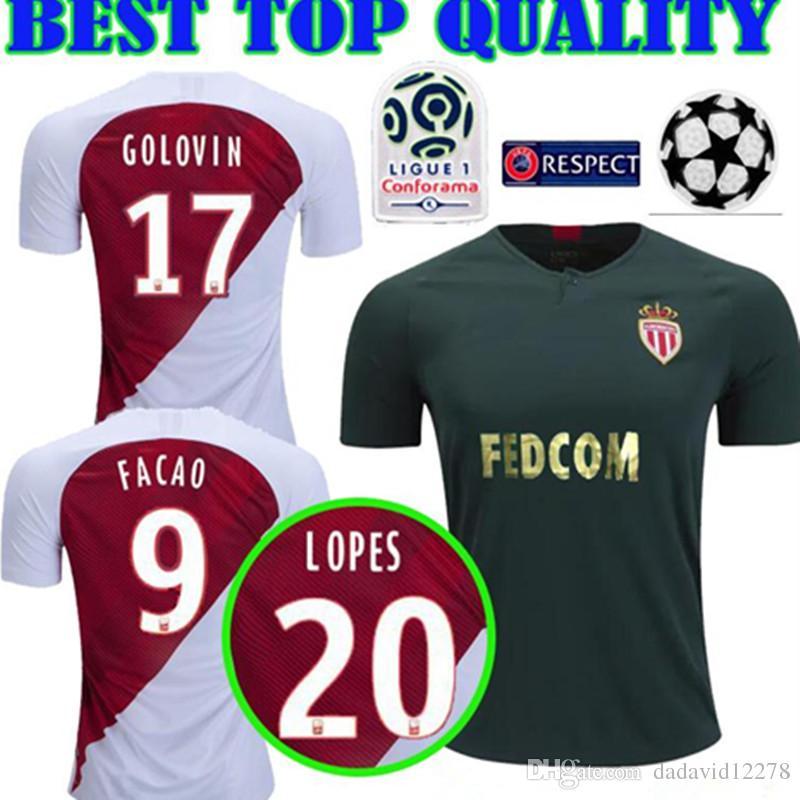 32f961dfd5c ... football shirts from 974b2 da73f; usa 2018 18 19 golovin as monaco  soccer jerseys home away 2019 champions league 9 falcao