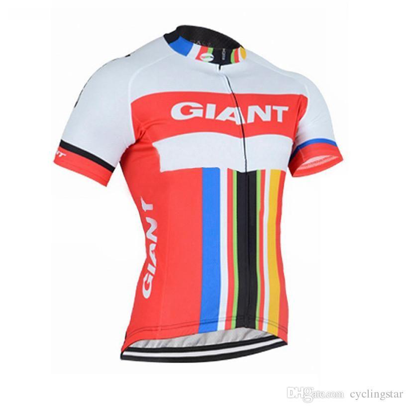 Compre Nova Equipe Gigante Homens Roupas De Ciclismo Bicicleta Jersey Bicicleta  Camisa De Manga Curta Ciclismo Jersey Verão Quick Dry Mtb Maillot Ropa ... 615f02817eccc