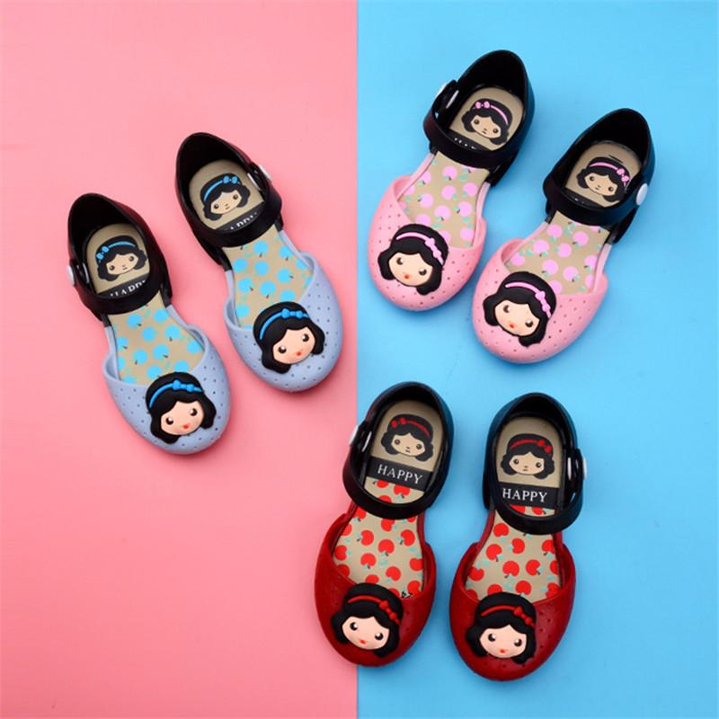 Mini Melissa Jelly Sandal Girls Summer Cartoon Shoes Bowknot Unicorn ... 28562a30aea3