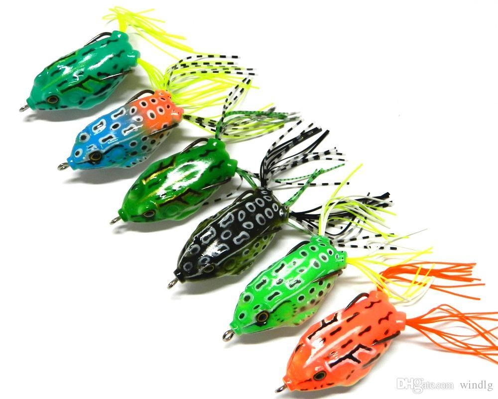 Hengjia 6pcsTopwater High carbon pesca Soft Bait 5.5CM 12.5G Fresh Water Bass Walleye Crappie Minnow soft forg Lure