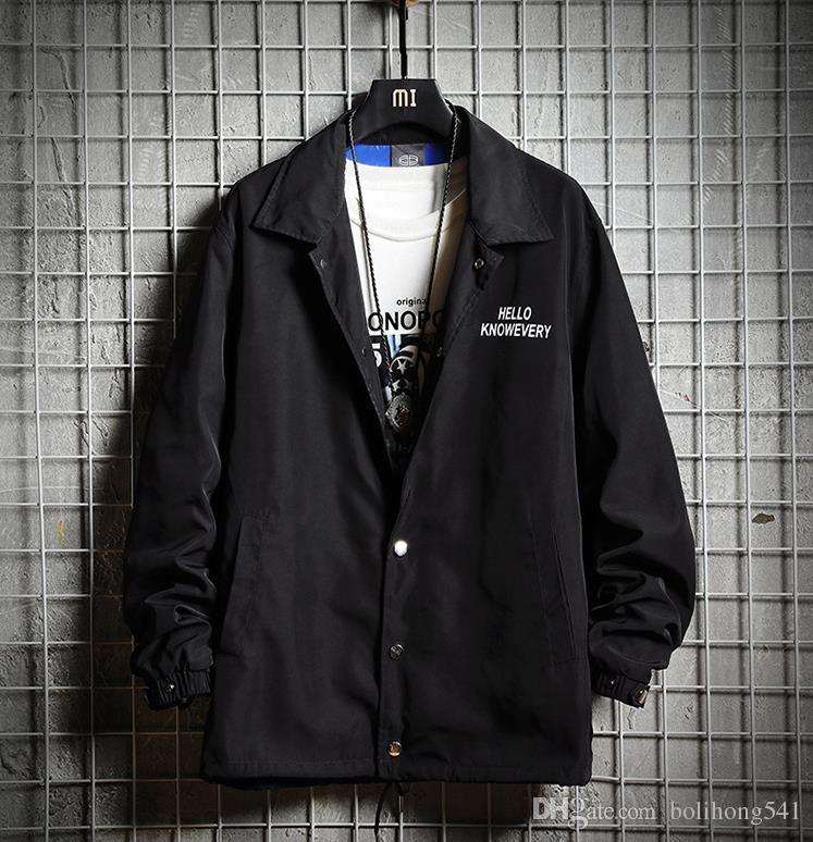 2018 Herbst neue Mode lässig Paar europäischen und amerikanischen Windjacke Herren gut aussehend Trend Shirt wilde Jacke 5615
