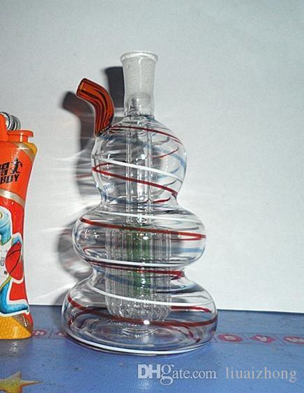 Garnitures de pipe de tabac de couleur et de verre de boule de verre épaissies complet ensemble complet d'accessoires de couleur bang de cheveux aléatoires.