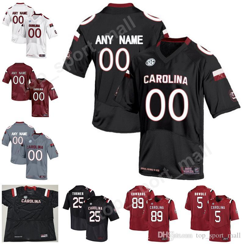 new style 33c59 68aca South Carolina Gamecocks College Football 81 Hayden Hurst Jersey 25 AJ  Turner 18 OrTre Smith Make Custom Personalized Black Red White Gray