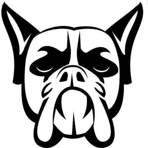 Grosshandel Boxer Hundekopf Tier Aufkleber Auto Aufkleber Vinyl Auto