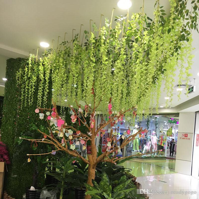 110cm Artificial ivy flowers Silk Flower Wisteria Vine flower Rattan for Wedding Centerpieces Decorations 2018 Bouquet Garland