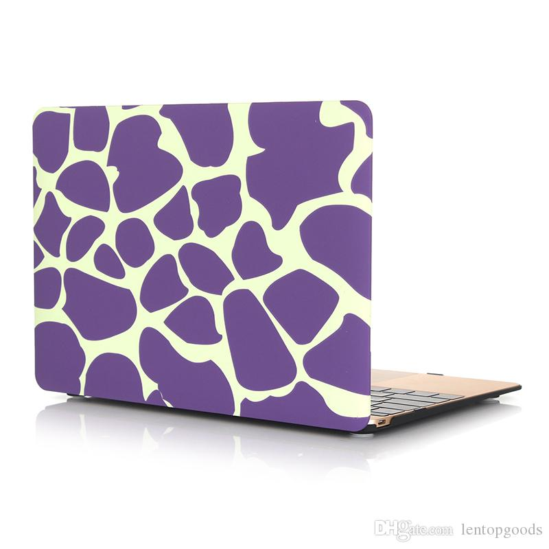 """Printing Plastic Hard Case Cover for 12 inch Apple Macbook Laptop Leopard Pattern Protective Shell for Macbook 12"""" Case+Keyboard Cover"""