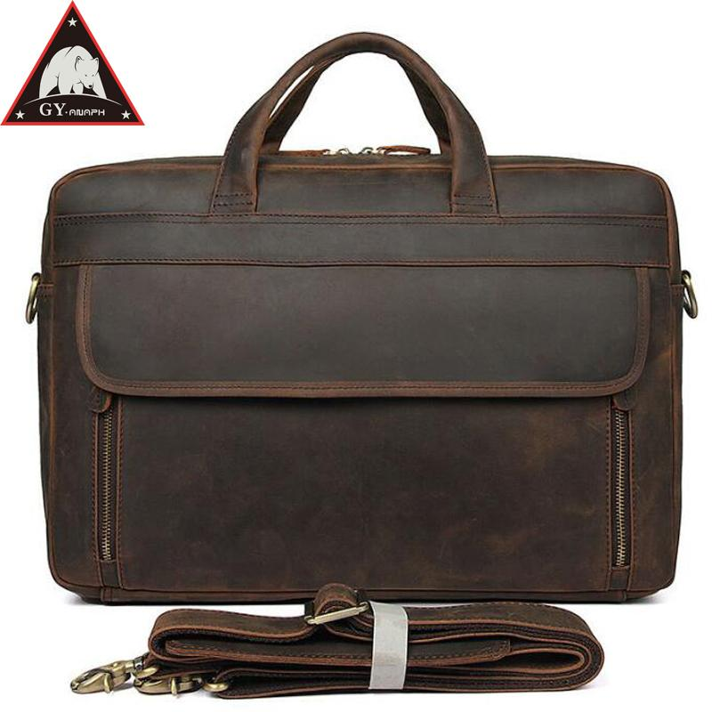 3aea227220 ANAPH Original Crazy Horse Office Work Bag For Men
