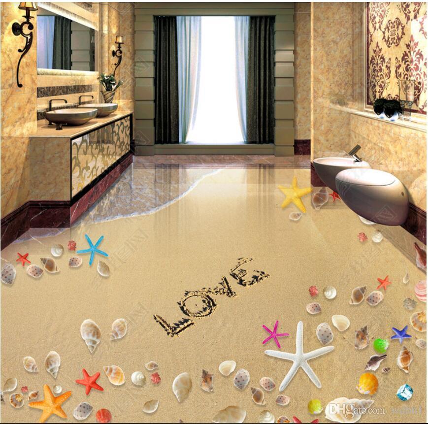 3d Pvc Flooring Custom Photo Waterproof Floor Wall Sticker Romantic