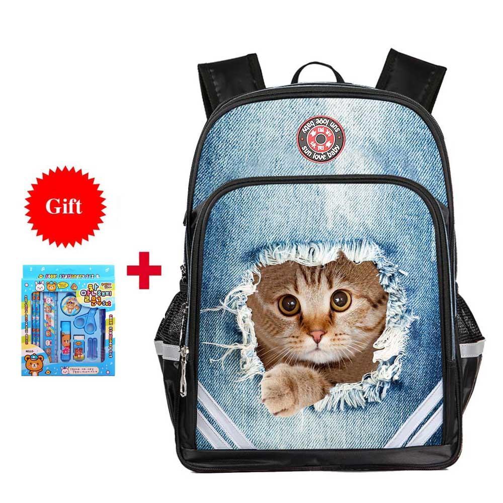 8895967779 Cute Dog Cat Printing Backpack Boys Girls School Bags Children s Orthopedic  Backpack Quality Mochila Infantil Bolsas Primary 1 6 Backpacks For Kids  Best ...