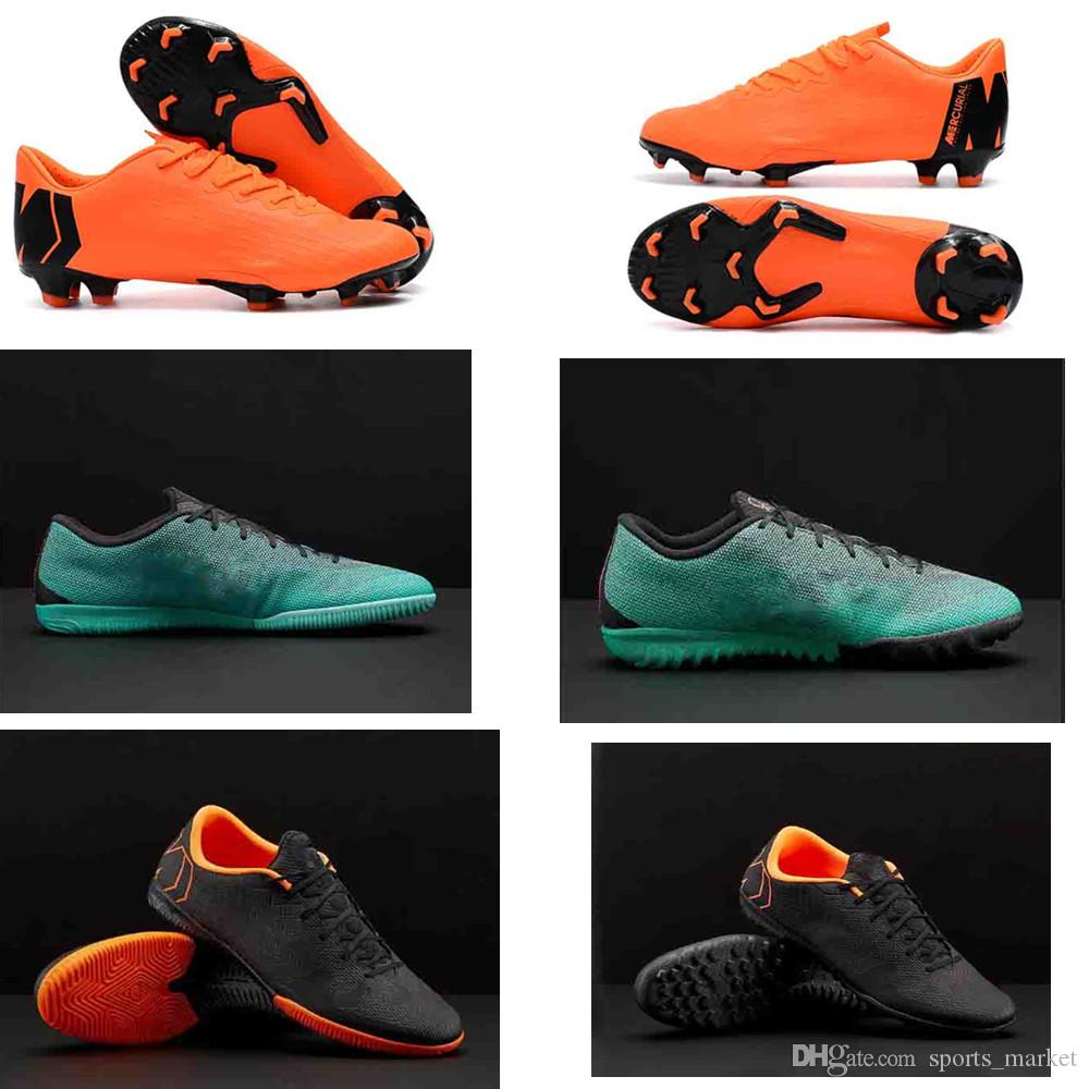 a77476ae9 2019 2018 New Men Football Shoes Sports Mercurial Superfly VaporX XII  Academy IC Casual Soccer Shoes Sneakers 360 Elite Size 39 45 From  Sports market