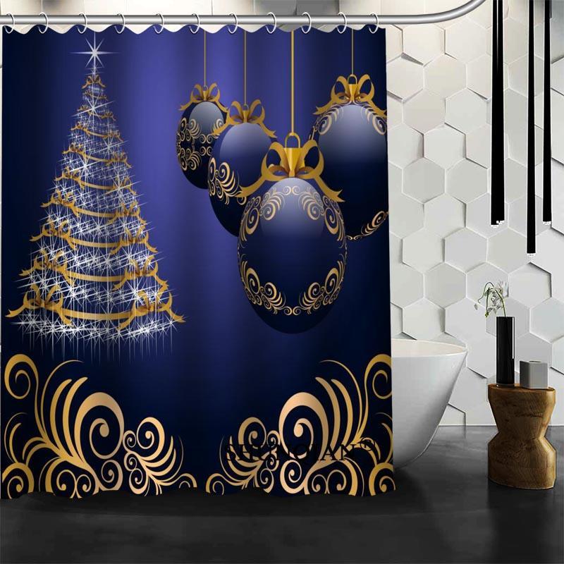 Vorhã¤Nge Badezimmer | Grosshandel Wasserdichte Badezimmer Vorhange Moderne Weihnachtsbaum