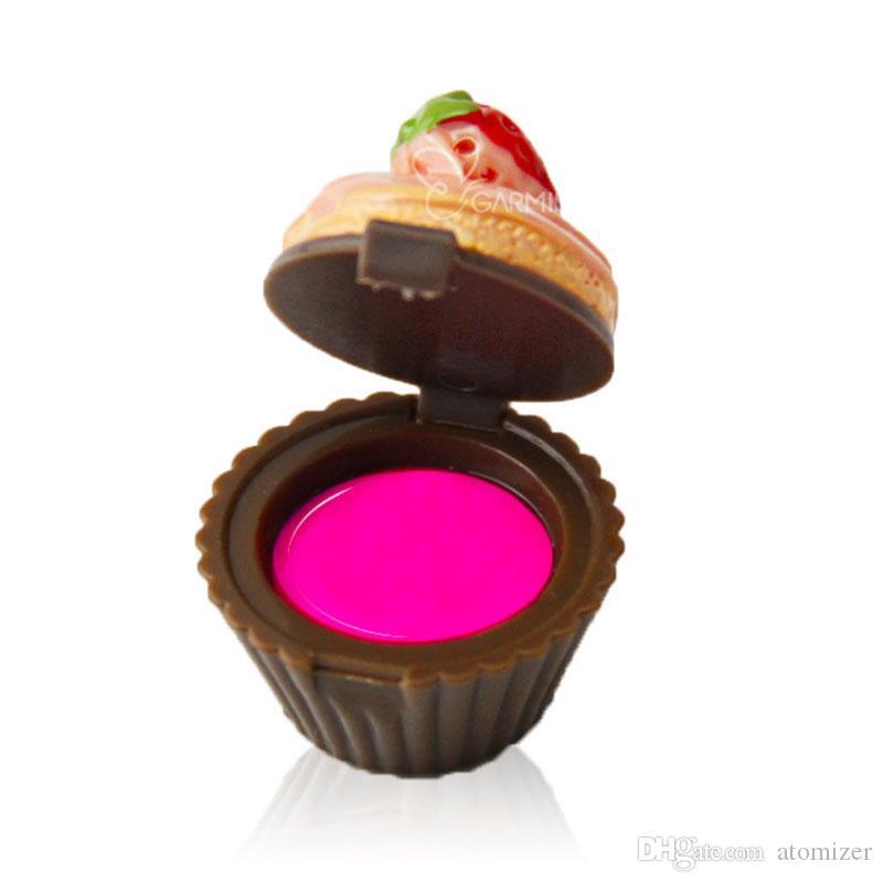 Cupcake Lip Gloss Balm 6 Bálsamos con sabor a bálsamo Christmas Santa Lipgloss Lápiz labial Cake Chocolate Cherry Strawberry Cream Cosmético 3001260