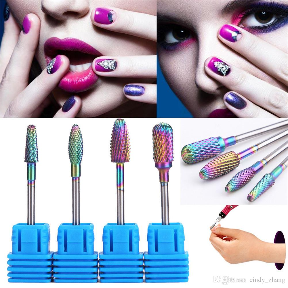 Nail Drill Bits Steel Cuspidal Nail Grinding Head For Nail Polisher