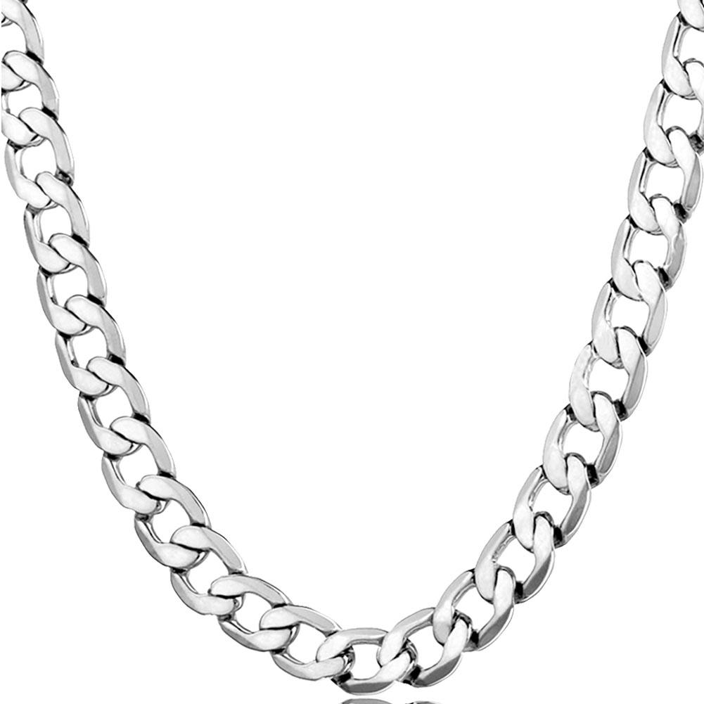 mens ati chains figaro stainless jewelry chain thin n bling steel necklace