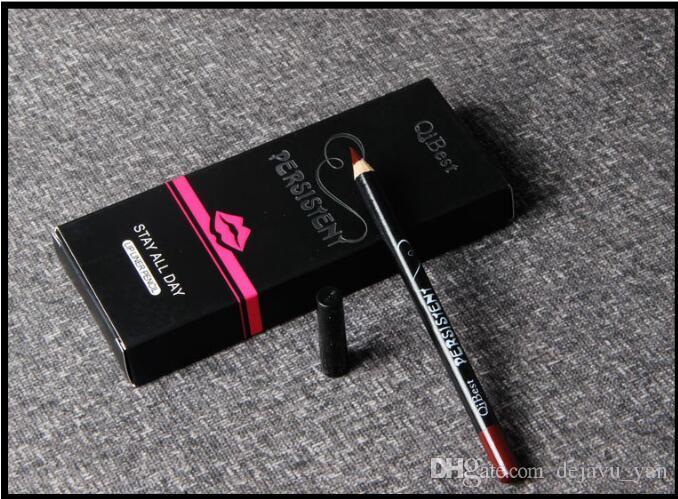 Gratis DHL es Qibest Lip Pencils Mate Duradera Impermeable Liner Liner Lápiz Herramientas de Maquillaje Lápiz Labial Mate 2803019