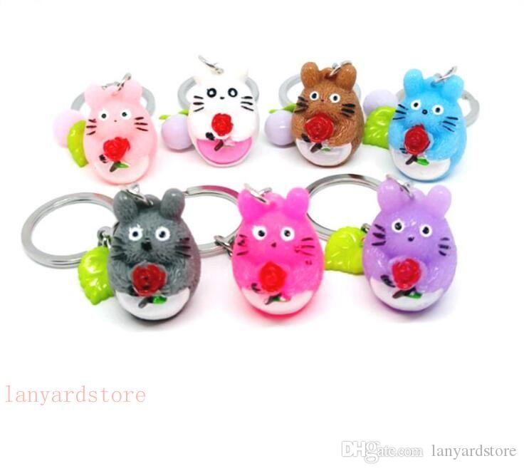 New cartoon for men and women Animal bouquet key chain pendant resin Alec accessories creative gifts wholesale