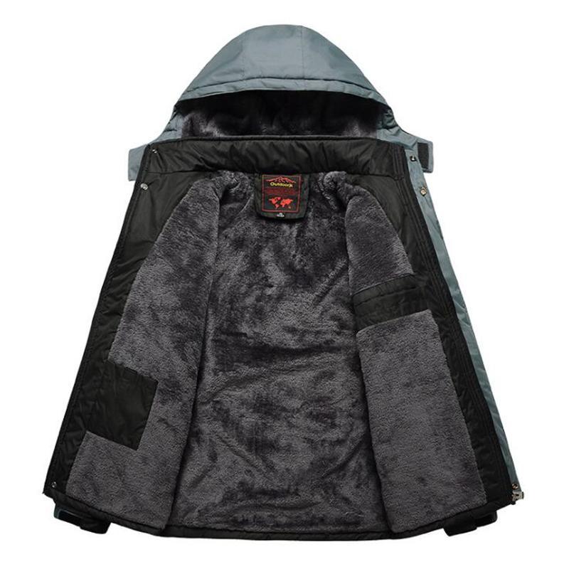 52ffd6cf2 Plus Size 6XL 7XL 8XL 9XL Winter Parkas Men Thick Velvet Jacket Fleece Coat  Warm Waterproof Windproof Windbreaker Raincoat Coats