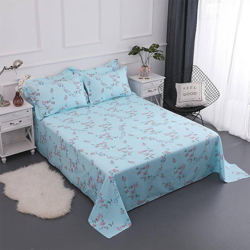 2019 Flat Sheet Bed Linens Single Double 100 Cotton Bedsheets Twin