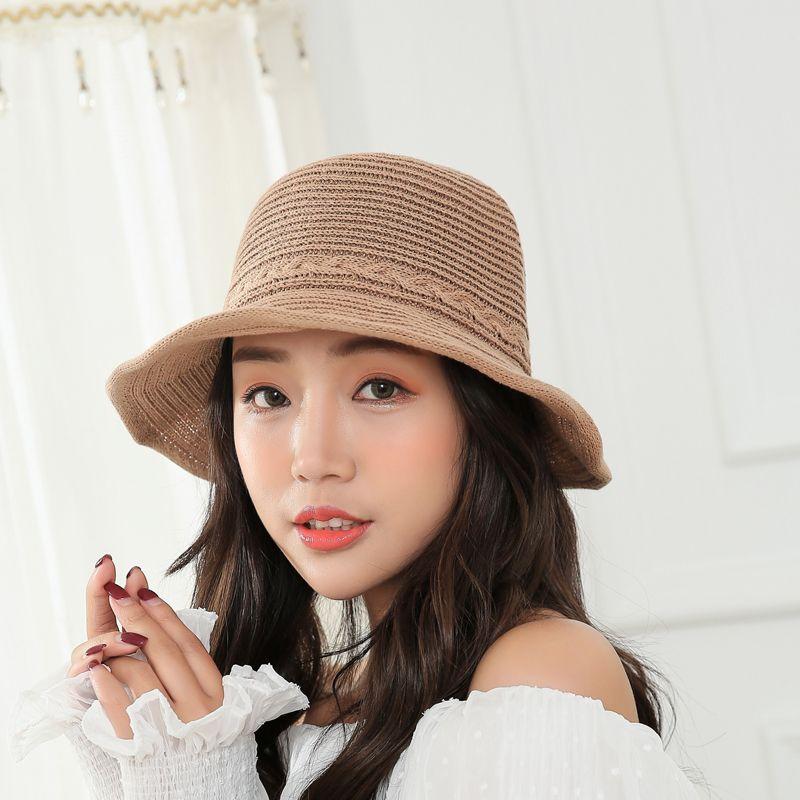 5f8cdde6b41 2018 New Sunshade Bucket Hat For Women Sun Hat Female Tide Sunscreen Wild  Summer Small Fresh Beach Cap Hat Store Fedora Hats For Men From Rainbowwo