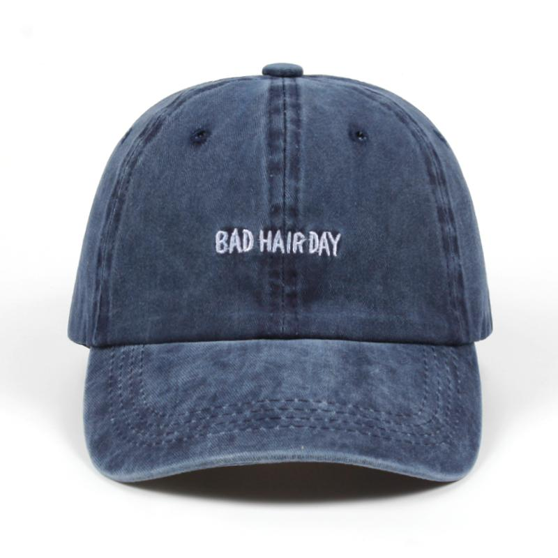 a0e48178 2018 Dad Hat Solid Washed Baseball Caps Women Men BAD HAIR DAY OOPS Letter  Embroidery Couple Golf Cap Trucker Hats Womens Baseball Hats Cheap Snapback  Hats ...