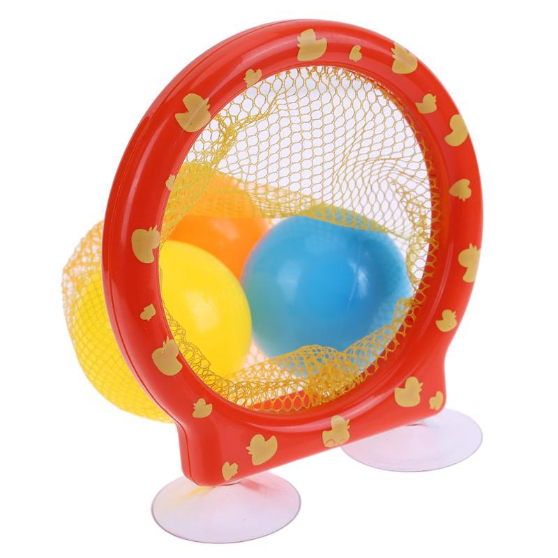 2018 Kids Bathing Playing Toy Bathroom Bath Tub Balls Fun Net Pocket ...