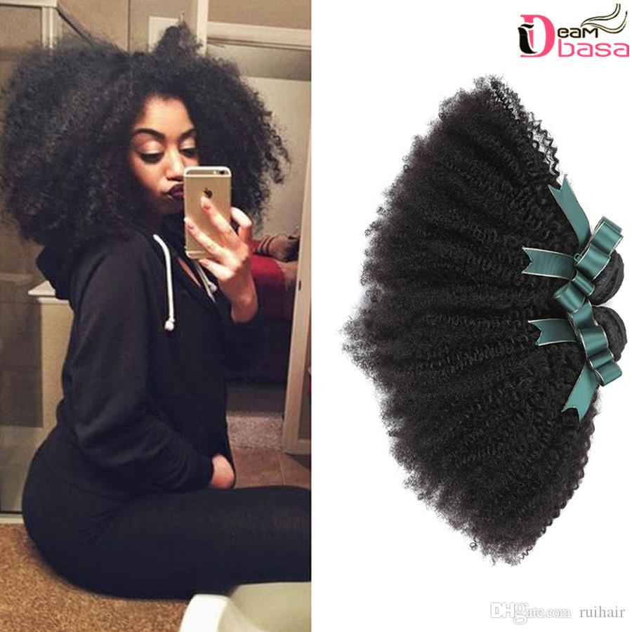 4 Bundles Brazilian Curly Afro Hair Unprocessed Brazilian Human