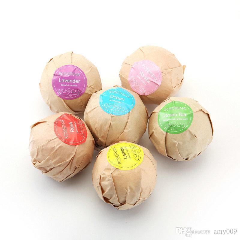 DHL соли для ванн мяч 6 шт. органические бомбы для ванн пузырь эфирное масло ручной СПА снятия стресса отшелушивающий мяты лаванды розовый вкус