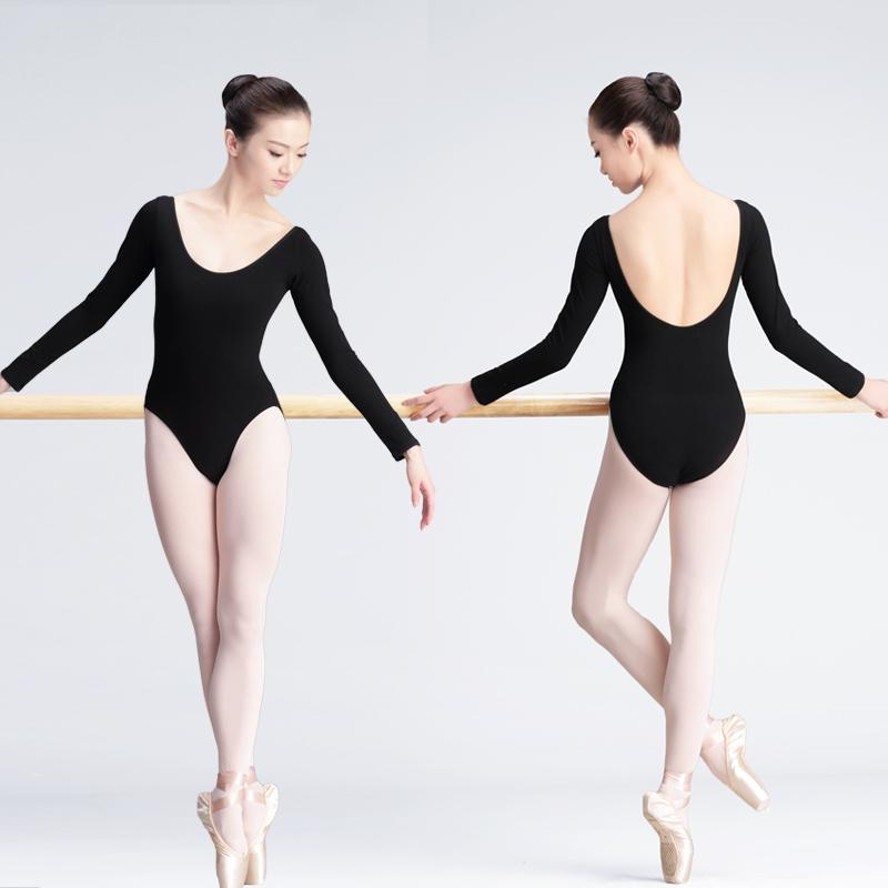 b0a9c6391 2019 Professional Long Sleeve Low Back Ballet Dance Leotard Adult ...