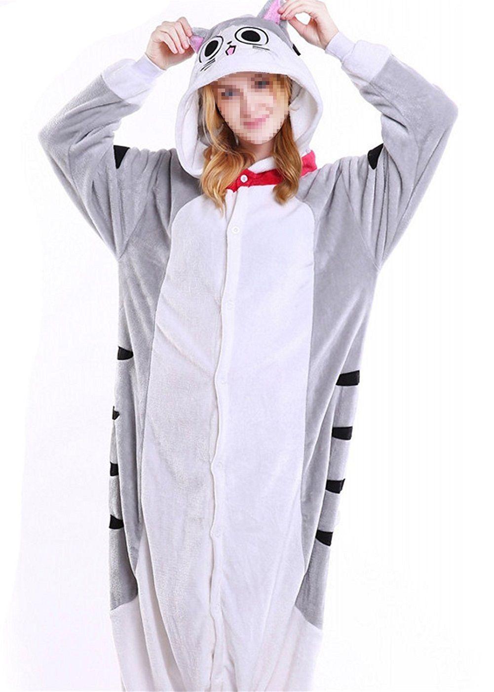 Unisex Adult Animal Cosplay Costume Pajamas Sleepwear Onesies Chi s ... 279eada57