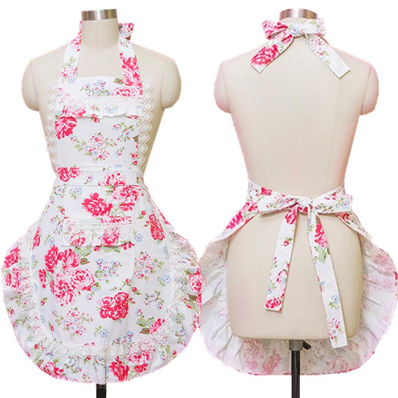 Home Kitchen Aprons For Women Canvas Lace Flowers Cooking Hairdresser Salon  Pinafore Apron Dress Princess Womens Apron Blueapron From Cnone, $24.13|  Dhgate.