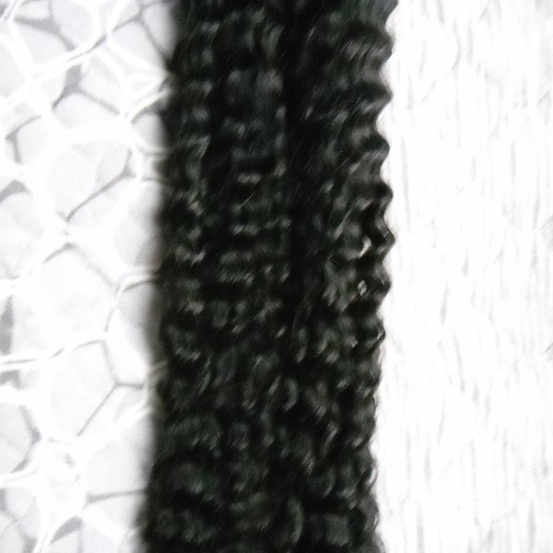 Кератин палку U наконечник наращивание волос человека 100 г / пряди фьюжн кератин наращивание волос глубокой волны предварительно связаны двойной обращается Реми наращивание волос