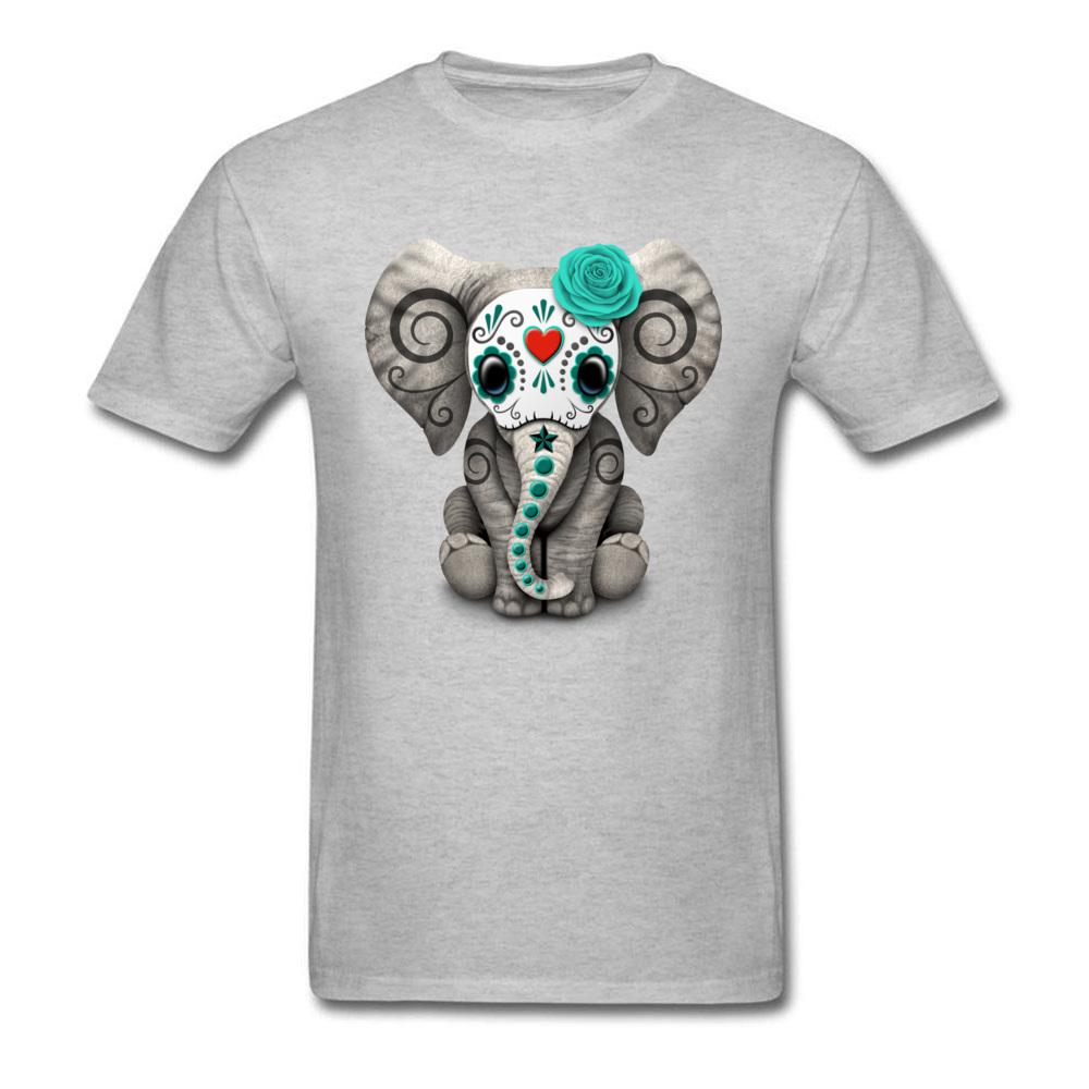 d36bb90d005 Funny Cheaper Spring Tshirt 3d Printed Mexican Day Of The Dead Sugar Skull  Tattoo Baby Elephant T Shirt For Boy Best Tees Cotton Tshits Tee S From ...