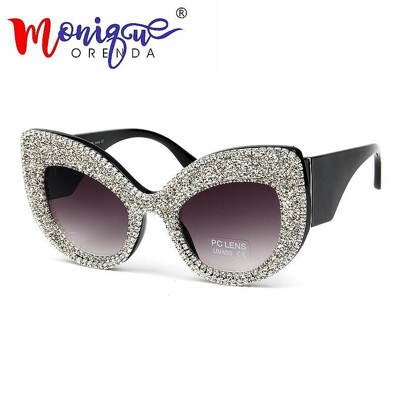 6600859c6b4 New Oversize Cat Eye Sunglasses Women Brand Designer Luxury Rhinestone Black  Eyeglasses Men Vintage Acetate Frame Sun Glasses Designer Glasses Sunglasses  Uk ...