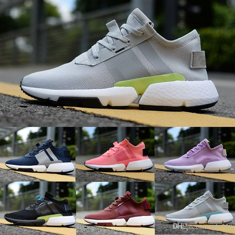 4a7b0489427f4 2018 Light Fashion Old Dad Designer P.O.D SYSTEM POD S3.1 Boots Sports  Running Shoes Mens Women Triple Black Blue Tennis Sneakers 36 45 Sports  Shoes For ...