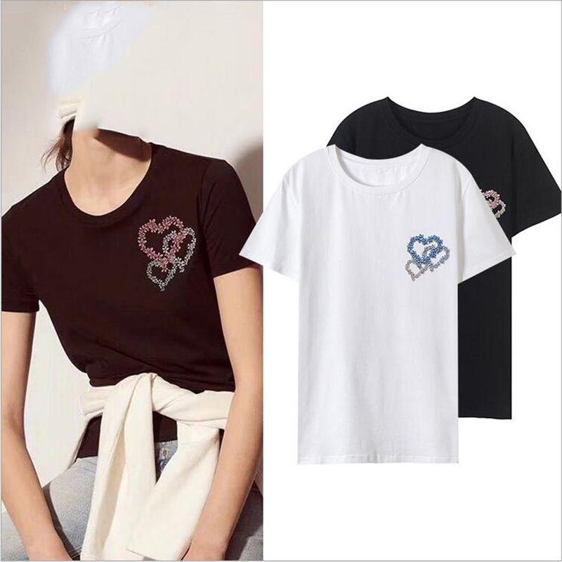 78bc3d4006db Women's Tee Vetore Brand 2018 Summer New Love Couple T Shirt Female T Shirt  High Quality Cotton Women's T Shirt Simple Design Free Shipping