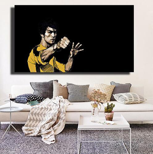 China's Martial Arts Stars Li HD Posters For Living Room Wall World Famous Movie Star Canvas Paintings Pop Art Canvas